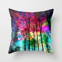 Colorful sky Throw Pillow by Haroulita