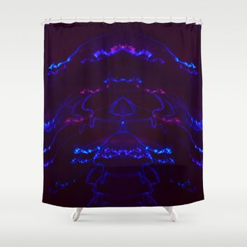 Not A Jellyfish Shower Curtain by Aaron Carberry