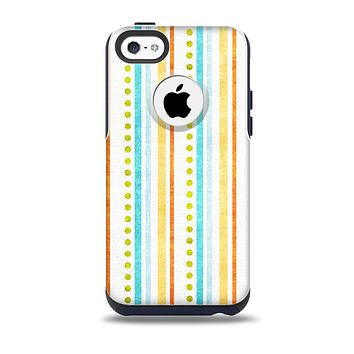 The Vintage Colored Stripes Skin for the iPhone 5c OtterBox Commuter Case