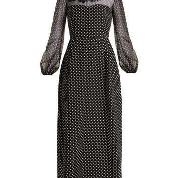 Polka-dot wool and silk-blend gown | Valentino | MATCHESFASHION.COM US