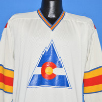 70s Colorado Rockies Hockey Jersey t-shirt Medium