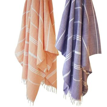 Cotton Linen Beach Bath Towels Striped Beach towel Toalla playa Fouta towels Tassel Scarf Turkish Bath towel for Adult 100x180cm