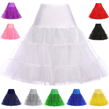 Petticoat Women Underskirt Crinoline Rockabilly Vintage Black White Petticoats Wedding Bridal Dress Jupon Tutu Tulle Petticoat