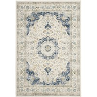 Safavieh Evoke Ivory/ Blue Rug (8' x 10') | Overstock.com Shopping - The Best Deals on 7x9 - 10x14 Rugs