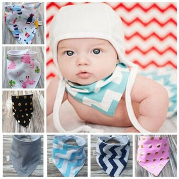 Baby Bibs New Style Fashion Cotton Handmade Character One Size Unisex bandana bibs Burp Cloths For Children Self Feeding Care