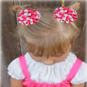 ADORABLE 2 PC HAIR BOWS IN A VARIETY OF COLORS