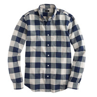 Vintage oxford shirt in navy gingham - shirts - Men's New Arrivals - J.Crew