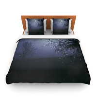 "Monika Strigel ""Song of the Nightbird"" Queen Fleece Duvet Cover - Outlet Item"