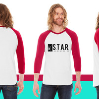 STAR LABS American Apparel Unisex 3/4 Sleeve T-Shirt
