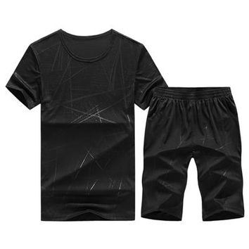 Men's Two-Piece Designer T-shirt & Shorts Set