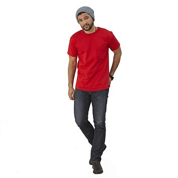 Adult Short Sleeve Crew Neck w/Pocket Classic Fit