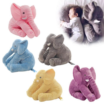 1pc 60cm Fashion Baby Animal Plush Elephant Doll Stuffed Elephant Plush Pillow Kids Toy Children Room Bed Decoration Toys