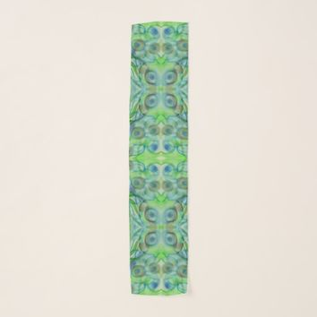 Green Abstract Scarf
