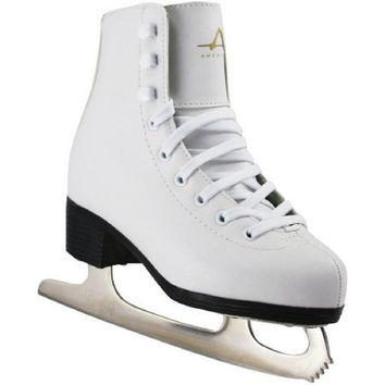 American Girls' Tricot-Lined Ice Skates, White, 1