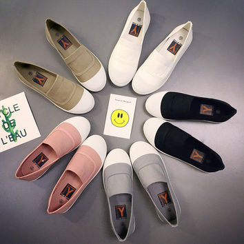 Casual Korean Stylish Flat Shoes [9448881991]