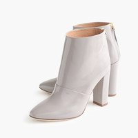 Adele glossy leather ankle boots