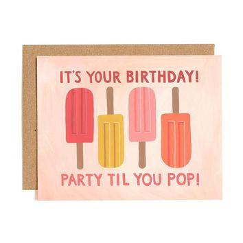 ONE CANOE TWO POPSICLE BIRTHDAY CARD