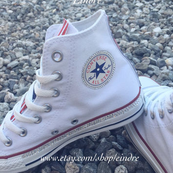 Reconstructed Converse Chuck Taylor High Top with Custom America f0362b1be