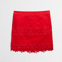 FACTORY COTTON LACE MINI IN SCALLOPED FLORAL
