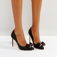 Ted Baker Azeline Black Sparkling Heeled Pumps at asos.com