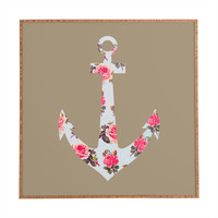 Allyson Johnson Floral Anchor Framed Wall Art