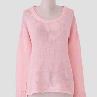 Colette Oversized Sweater In Pink