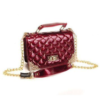 DCCKNQ2 CHANEL Women Fashion Leather Chain Handbag Satchel Shoulder Bag Crossbody3