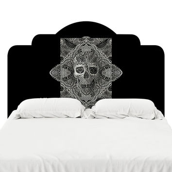 Skull Laces Headboard Decal