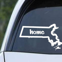 Massachusetts Home State Outline MA - USA America Die Cut Vinyl Decal Sticker