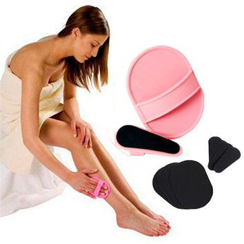 2016 New Style Smooth Leg Arm Skin Pads Face Upper Lip Hair Removal Exfoliator Set