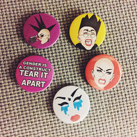 Sasha Velour Badge Set