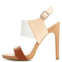 Color Block High Heel Sandals by Charlotte Russe