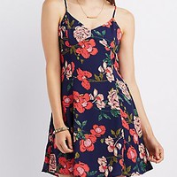 FLORAL OPEN BACK SWING DRESS