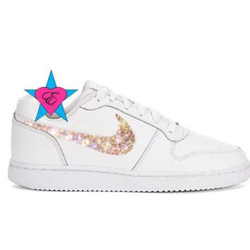Crystal Women's Sneakers | Ebernon Low Fashion White