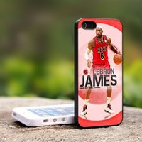Lebron James Miami Heat - For iPhone 4,4S Black Case Cover