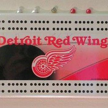 Detroit Red Wings NHL Licensed Cribbage Board FREE US SHIPPING