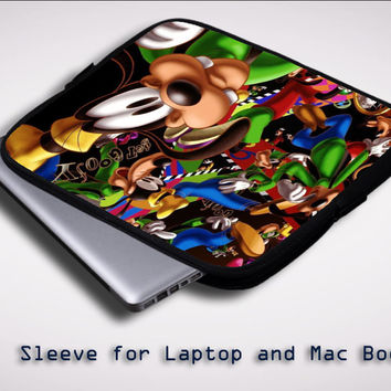 goofy disney collage Z1471 Sleeve for Laptop, Macbook Pro, Macbook Air (Twin Sides)