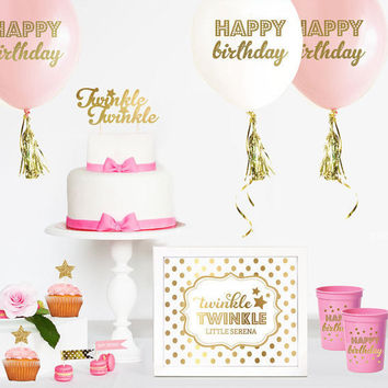 Twinkle Twinkle Little Star Cake Topper - Twinkle Little Star Birthday Decor - Twinkle Cake Topper - Twinkle Little Star - Baby Shower