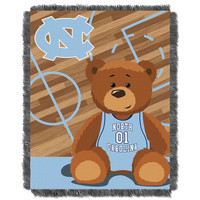 North Carolina Tar Heels NCAA Triple Woven Jacquard Throw (Fullback Baby Series) (36x48)
