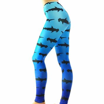 Hammer Head Shark print Leggings