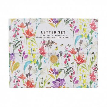 Watercolour floral writing set - NEW - Stationery - New for Spring