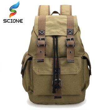 Hot Outdoor Sports Travel Luggage Army Bag Canvas Hiking Backpack Camping Tactical Rucksack Men Military Backpack mochila