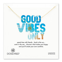 Dogeared Good Vibes Only Radiant Sun Necklace Gold Dipped - 18 Inch