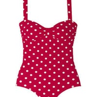 Cinched Bandeau One-Piece