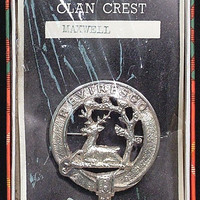 SCOTTISH PLAID BROOCH C.1900 FOR CLAN MAXWELL