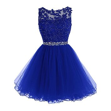Royal Blue Burgundy Short Prom Dress 2017 Crystal Gorgeous Cheap Mini Gray Prom Dresses Orange Navy Blue Formal Party Gowns