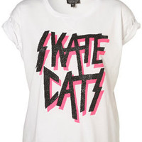 Skate Catz Tee - Tees & Tanks - Jersey Tops - Clothing - Topshop