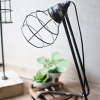 Desk Lamp- Wire Cage #1