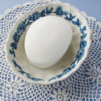 James Kent Old Foley Imari Soap Dish Blue and White English Cottage Decor