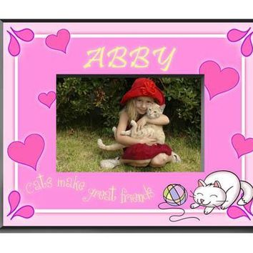 Personalized  Children's Frames - Kitten